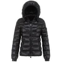 羽绒服女短款韩版2018新款冬季连帽修身显瘦加厚M家经典时尚外套 黑色