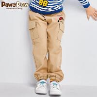 【1件5折 5件4.5折 到手价:206元】Pawinpaw卡通小熊童装春款男童休闲工装长裤