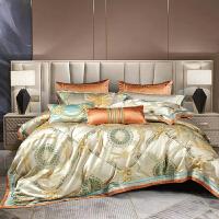 伊迪梦家纺 仿真丝提花多件套 豪华绗缝夹棉绣花六件套八件套十件套家纺大规格床上用品GZ205
