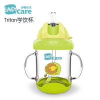 儿童喝水杯子带吸管手柄水杯 婴儿学饮杯夏季宝宝吸管杯