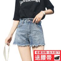 牛仔短裤女夏2018新款韩版学生a字宽松阔腿裤chic高腰热裤子