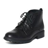 BATA/拔佳专柜同款牛皮女短靴AM541DD5