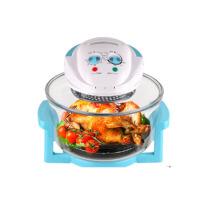 空气炸锅玻璃烤箱烤箱 家用家用多功能光波炉 蓝色