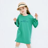 【2件3.8折】迷你巴拉巴拉女童纯棉连衣裙2019夏新款儿童宝宝女新款时尚裙子