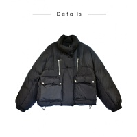 羽绒棉衣女士外套201冬装女短款韩版学生面包服宽松羽绒加厚小棉袄立领外套