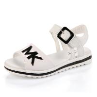 女童凉鞋新款沙滩鞋中大童女学生夏季平底儿童公主鞋