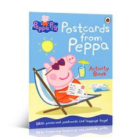 粉红猪小妹 英文原版 Peppa Pig: Postcards from Peppa 来自佩奇的明信片 翻翻书 3-6