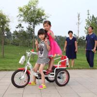 儿童三轮车双胞胎三轮车 3到6岁儿童自行车宝宝脚踏车双人车