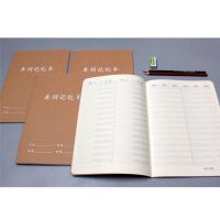 简约复古牛皮记忆单词 学生英语单词记录笔记本 英文记忆练习本B5
