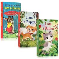 Golden Books金色童年系列3本纸板书 I Am a Bunny I am a Kitten I am a Kitten 0-3-6岁幼儿启蒙认知儿童英文原版绘本