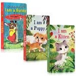 顺丰发货 Golden Books金色童年系列3本纸板书 I Am a Bunny I am a Kitten I a
