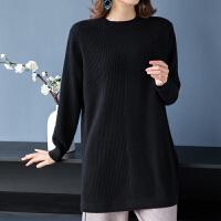 秋冬羊绒衫毛衣女中长款半高领羊毛衫女修身套头针织打底衫厚