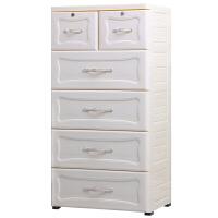 欧式抽屉式收纳柜塑料储物柜宝宝衣柜整理柜箱子