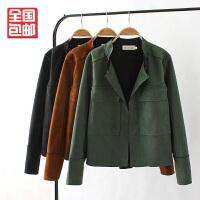 大码女装秋冬新款上衣加肥胖MM韩版鹿皮绒200斤长袖外套