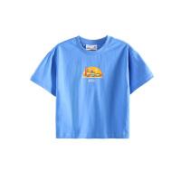 【2件5折夏装到手价:49.5】小猪班纳童装男女童夏季休闲纯棉短袖儿童圆领针织衫简约亲子装