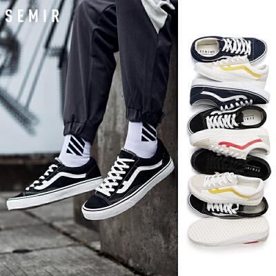 帆布鞋男2019春季新款韩版潮流百搭低帮帆布鞋情侣鞋港风男鞋板鞋
