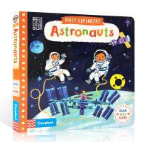 英文原版童书 First Explorers: Astronauts 宇航员 太空科普 儿童启蒙机关操作纸板书 0-3