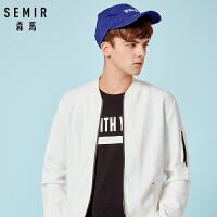 森马夹克男年轻秋季时尚男装韩版休闲夹克衫青少年棒球服外套潮