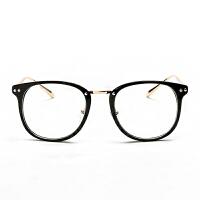 复古潮圆脸眼镜框女大框百搭男士平光镜架可配防辐射近视眼镜