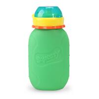 香蕉宝宝儿童挤压式喂养瓶果汁瓶禧滋2合1全硅胶多功能辅食喂养瓶