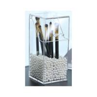 化妆刷收纳盒带盖简约筒盒子彩妆工具笔筒套便携有盖珍珠刷桶惊喜的文具礼物节日礼品圣诞礼物