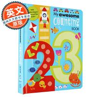 我的尖叫数字书 英文原版 My Awesome Counting Alphabet Book 适合2-6岁 进口童书