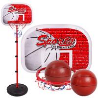 儿童篮球架可升降室内家用挂式投篮框宝宝球类玩具户外玩具男孩 2.0米铁框铁杆(配2篮球+打气筒)