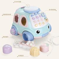 拖拉玩具拉线绳手拉车宝宝牵引1-2-3岁音乐拖行儿童拉拉车 拖拉电话车
