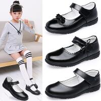 女童皮鞋真皮黑色单鞋学生中大童皮鞋公主单鞋白色演出表演鞋