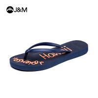 JM快乐玛丽夏季设计师个性时尚平底人字拖童鞋拖鞋沙滩鞋T1019C