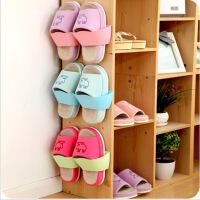 3个装颜色随机欧式塑料拖鞋架卫生间壁挂墙上客厅鞋子收纳鞋架