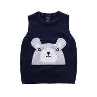 宝宝针织衫秋冬保暖马甲儿童背心毛衣开衫女外穿童装男童坎肩线衣