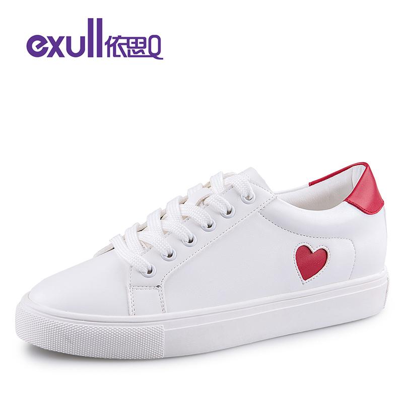 依思Q休闲鞋女时尚撞色后跟板鞋单鞋舒适潮流小白鞋