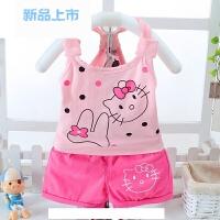 0-1-2-3岁4女童夏装套装2018新款女宝宝夏季两件套潮衣服婴儿童装
