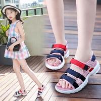 女童凉鞋新款夏季公主鞋平底儿童时尚中大童鞋