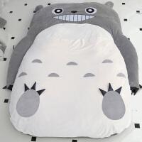 龙猫懒人沙发床卡通可爱榻榻米折叠卧室单人地铺双人加厚情侣床垫