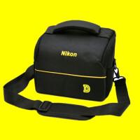 尼康单反相机包单肩摄影包D3200D90D7100 D7200D3300D5300便携 +防雨罩