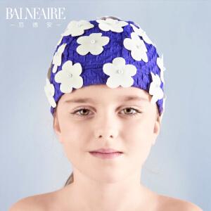 范德安儿童泳帽 2016女童花瓣游泳帽 防晒布泳帽 舒适护耳沙滩帽