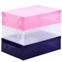 5只装短靴盒收纳盒透明鞋盒 塑料鞋子长靴收纳箱塑料鞋盒鞋子收纳神器鞋盒子收纳盒鞋箱短靴颜色随机