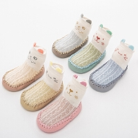 春夏婴儿鞋袜宝宝学步袜儿童地板袜子薄棉网眼防滑袜