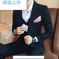 秋冬新品时尚男士西装 修身伴郎新郎结婚礼服三件套西服男