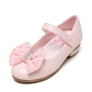 shoebox鞋柜珍珠蝴蝶结搭攀公主风女童单鞋小女孩演出皮鞋