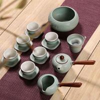 粗陶日式复古功夫泡茶具整套装茶道茶杯陶瓷办公室家居用红茶茶壶