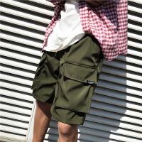 夏季新款百搭宽松口袋水洗青年短裤沙滩休闲韩版男裤子