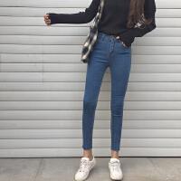 高腰牛仔裤女春夏季新款韩版显瘦紧身小脚裤百搭学生铅笔裤潮