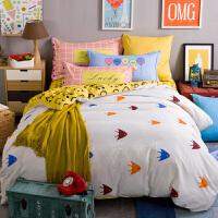 加厚磨毛四件套冬季棉1.5m1.8m2.0米双人床上用品床单被套