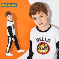 巴拉巴拉童装男童套装儿童两件套春秋2018新款小童宝宝卫衣运动裤