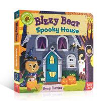【全店300减110】英文原版绘本 Bizzy Bear Spooky House 儿童纸板机关活动操作书 忙碌的小熊系