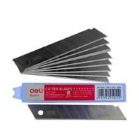 得力2011大号美工刀片裁纸刀片SK5钢锋利耐用宽1.8cm 10片/盒