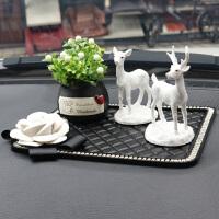 车饰车载摆设车内饰品摆件漂亮内饰保平安小鹿创意可爱鹿汽车用品